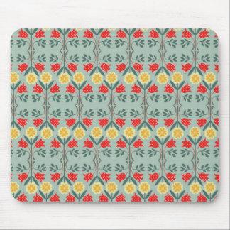 Fair isle fairisle floral retro hipster pattern mouse pad