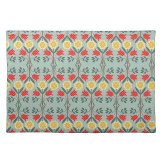 Fair isle fairisle floral retro hipster pattern cloth placemat