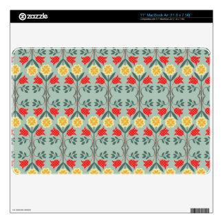 Fair isle fairisle floral retro hipster pattern decals for MacBook air
