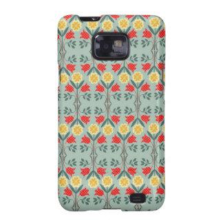Fair isle floral pattern Samsung Galaxy case skin Galaxy SII Case