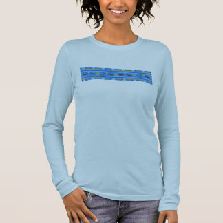 fair_isle_moose for ladies long sleeve T-Shirt
