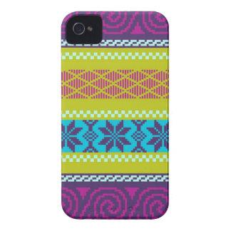 Fair Isle Stripe in Metro iPhone 4 Cases
