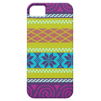 Fair Isle Stripe in Metro iPhone SE/5/5s Case