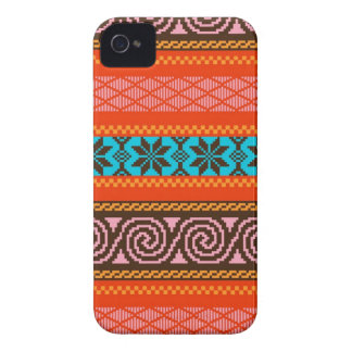 Fair Isle Stripe in Retro Case-Mate iPhone 4 Case