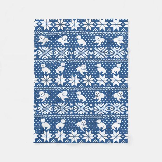 Fair Isle Westies Fleece Blanket | Zazzle.com