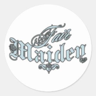 Fair Maiden Classic Round Sticker