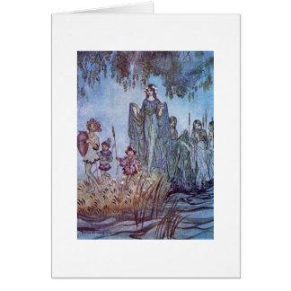 Fair Maiden with Children Card
