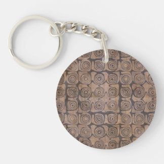 Fair-Minded Good Adventurous Transformative Single-Sided Round Acrylic Keychain