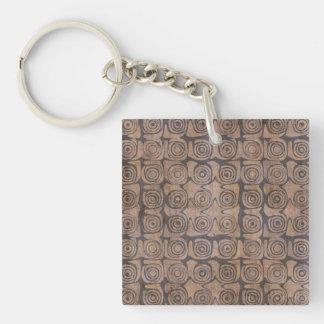 Fair-Minded Good Adventurous Transformative Single-Sided Square Acrylic Keychain