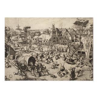 Fair of Saint Georges Day by Pieter Bruegel Card