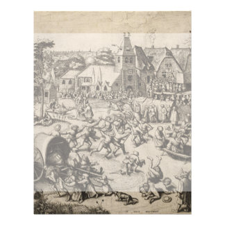 Fair of Saint Georges Day by Pieter Bruegel Flyer