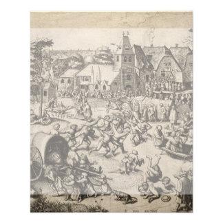 Fair of Saint George's Day by Pieter Bruegel Flyer