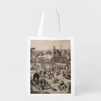 Fair of Saint George's Day by Pieter Bruegel Grocery Bag