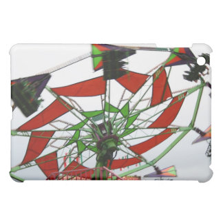 Fair Ride Flying Glider Green and Red Image iPad Mini Cover