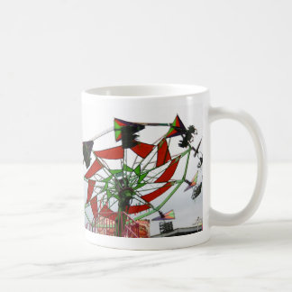 Fair Ride Flying Glider Green and Red Image Coffee Mugs