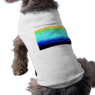 fair ride green invert blue w lights close up doggie t-shirt