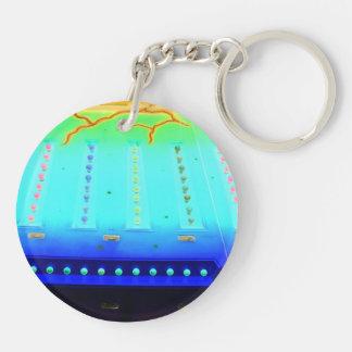 fair ride green invert blue w lights close up keychain