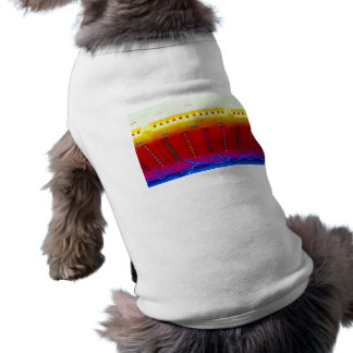 fair ride red yellow blue w lights close up doggie tee