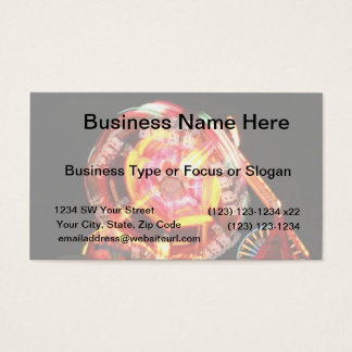 Fair Ride Spinning Colours Red and yellow Business Card