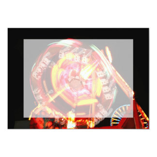 Fair Ride Spinning Colours Red and yellow 5x7 Paper Invitation Card