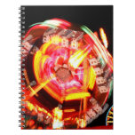 Fair Ride Spinning Colours Red and yellow Spiral Notebook