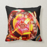 Fair Ride Spinning Colours Red and yellow Throw Pillow