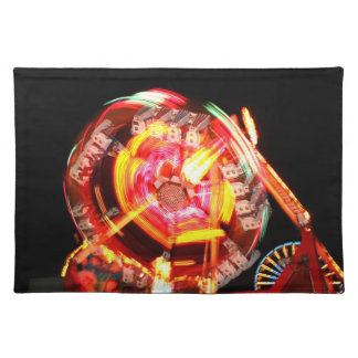 Fair Ride Spinning Colours Red and yellow Placemat