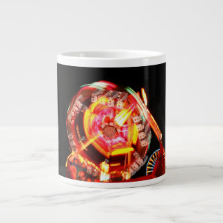 Fair Ride Spinning Colours Red and yellow 20 Oz Large Ceramic Coffee Mug
