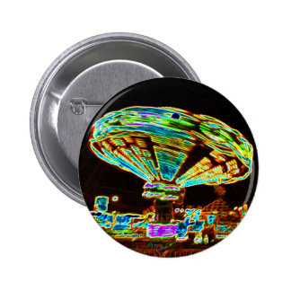 Fair ride Swings Blur Black and Neon Button