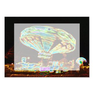 Fair ride Swings Blur Black and Neon Custom Announcements