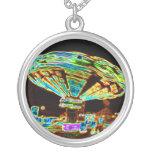 Fair ride Swings Blur Black and Neon Jewelry