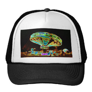 Fair ride Swings Blur Black and Neon Trucker Hat