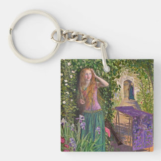 Fair Rosamond in the Bower Double-Sided Square Acrylic Keychain