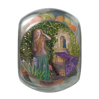 Fair Rosamond in the Bower Jelly Belly Candy Jar