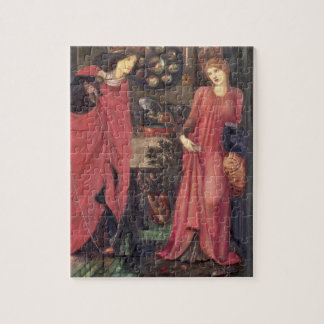 Fair Rosamund and Queen Eleanor (mixed media on pa Jigsaw Puzzle