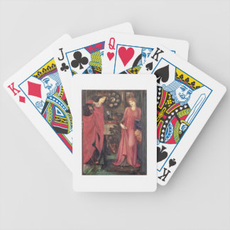 Fair Rosamund and Queen Eleanor (mixed media on pa Playing Cards