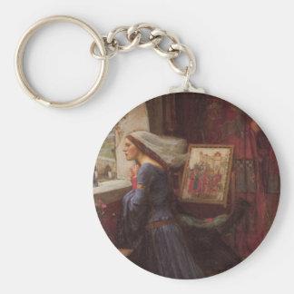 Fair Rosamund at the Window Keychain