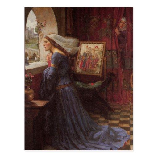 Fair Rosamund at the Window Post Cards