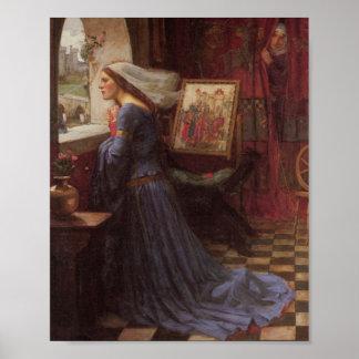 Fair Rosamund at the Window Poster
