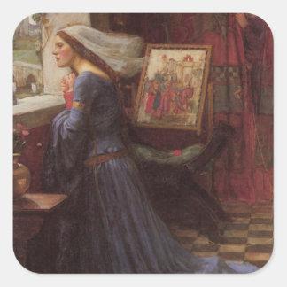 Fair Rosamund at the Window Square Sticker
