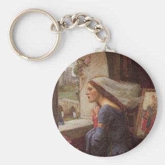 Fair Rosamund Basic Round Button Keychain