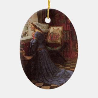 Fair Rosamund Ceramic Ornament