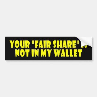 fair_share car bumper sticker