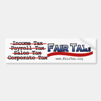 Fair Tax Bumper Sticker