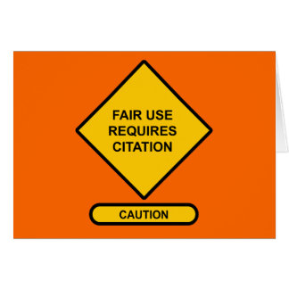 Fair Use Requires Citation Card