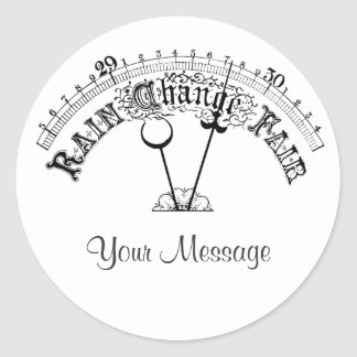 Fair Weather Barometer Scale Name Gift Tag Sticker