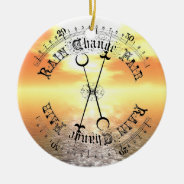 Fair Weather Barometer Sunset Christmas Pendant Double-Sided Ceramic Round Christmas Ornament at Zazzle