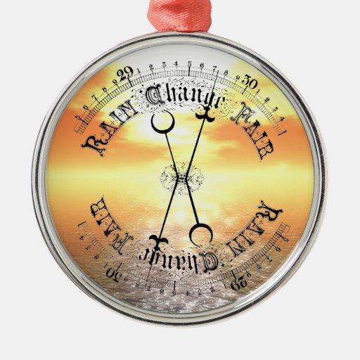 Fair Weather Barometer Sunset Christmas Pendant Christmas Tree Ornaments