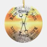 Fair Weather Barometer Sunset Christmas Pendant Christmas Tree Ornament