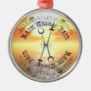Fair Weather Barometer Sunset Christmas Pendant Round Metal Christmas Ornament at Zazzle